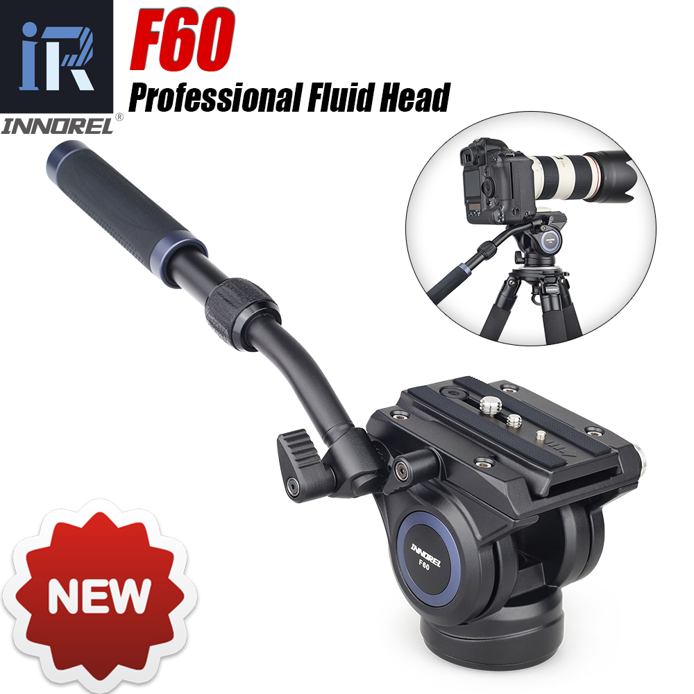 Color : Black Black Camera /& Photo Products Aluminum Alloy Heavy Duty Video Camera Tripod Action Fluid Drag Head with Sliding Plate for DSLR /& SLR Cameras Tripods Products