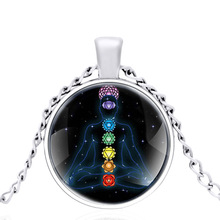 Magic Chakra For People Glass Dome Metal Classic Necklace Vintage Men and Women jewelry gift цена 2017