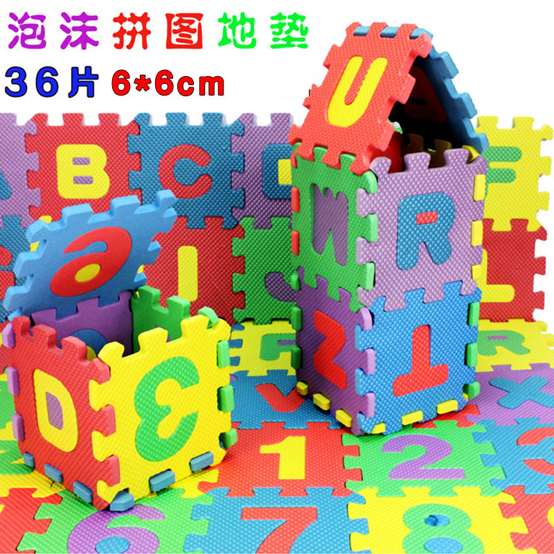 Children Small Crawl Pad Infant Joint Foam Floor Pad Bedroom Household Non-toxic Lettered With Numbers Jigsaw Puzzle