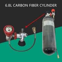 AC168301 Zylinder Scuba Pcp Luftgewehr Unterwasser Pistole Carbon Faser Luftgewehr Tank 6.8L 300Bar CE Ventil Scuba Tauchen Zylinder Acecare