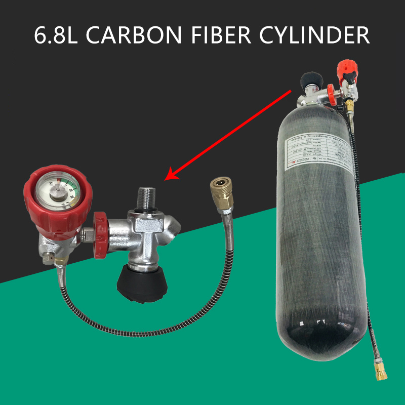 AC168301 Cylinder Scuba Pcp Air Rifle Underwater Gun Carbon Fiber Airgun Tank 6.8L 300Bar CE Valve Scuba Diving Cylinder Acecare