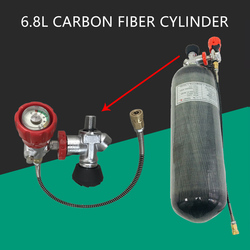 AC168301 Cylinder Scuba Pcp Air Rifle Underwater Gun Carbon Fiber Airgun Tank 6.8L 300Bar CE Valve Scuba Diving Cylinder Acecare