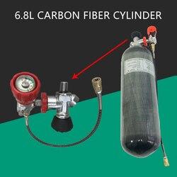 AC168301 cilindro de buceo Pcp Rifle de aire bajo el agua arma de fibra de carbono de Airgun tanque 6.8L 300Bar CE Válvula de cilindro de buceo Acecare