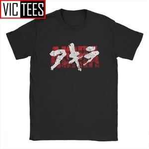 Akira футболка Kanji Мужская манга Kaneda Vaporwave японская Neo Tokyo аниме винтажная хлопковая Футболка с 3D принтом