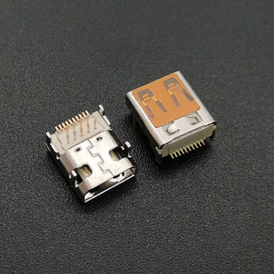 Connecteur HDMI TYPE D 19 broches femelle, 10 pièces/lot, prise MICRO HDMI, SMT & DIP