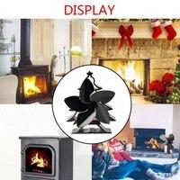 Árvore de natal temático calor alimentado fogão ventilador para log queimadores de madeira 5 lâminas aquecedor fogão ventilador Exaustores     -