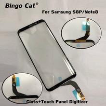 Painel de vidro digitalizador touch screen, trabalho para samsung galaxy s8 plus, lcd, função de toque, substituição