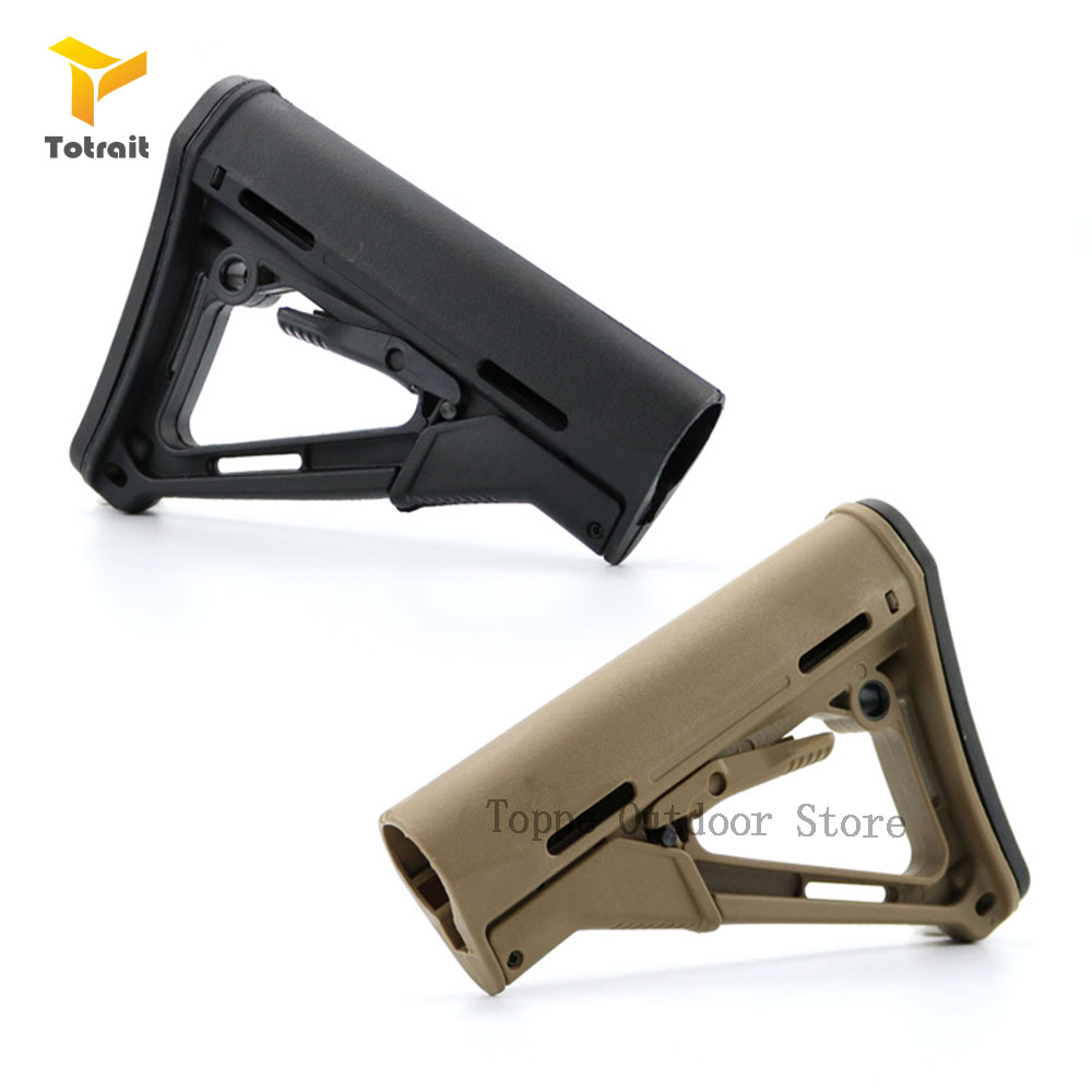 TOtrait Nylon Tactical CRT Style Stock M4 Rifle Stock JM GEN8 Gel Blaste Toy Airsoft Refile AR Series CRT BUTT Rifle Accessory