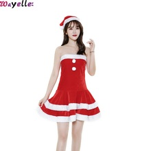 2019 New Christmas Costumes And Hats Female Adult Velvet Girls Party Stage Performances Good Quality Festival Show Clothes