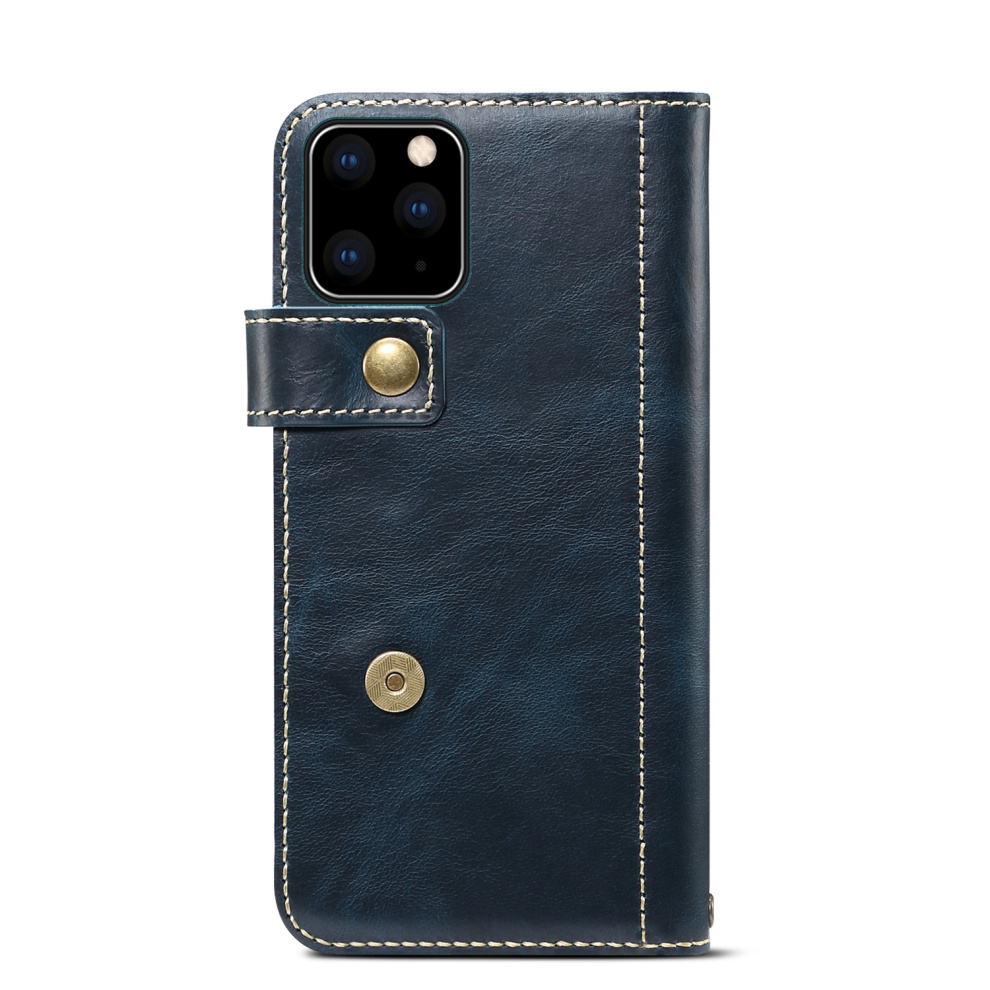 Premium Leather Magnet Button Flip Strap Case for iPhone 11/11 Pro/11 Pro Max 57