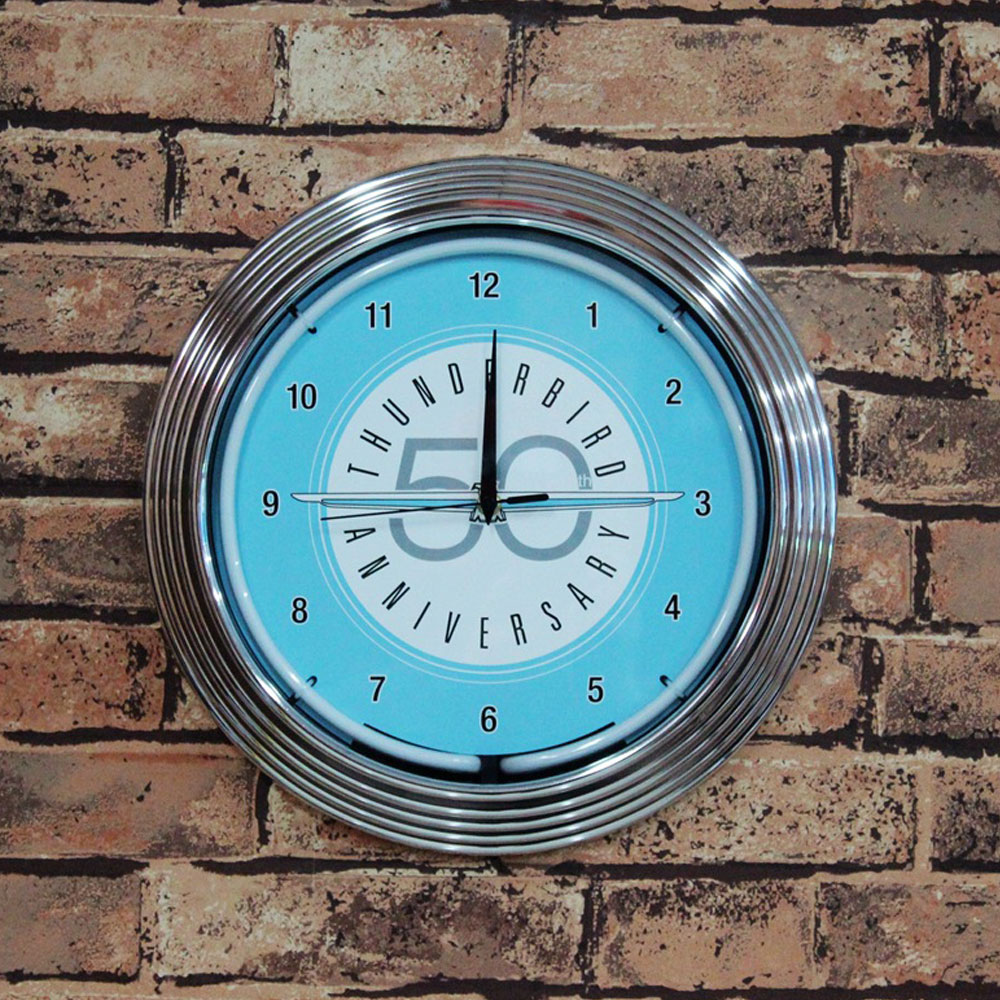 Bespoke Neon Signs Vintage Timepiece With Neon Tube Lights Full Lights Neon Signs To Be Customized