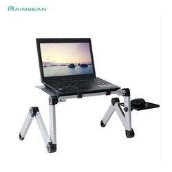 Portable Adjustable Aluminium Meja Laptop Stand Meja Vented Ergonomis TV Tempat Tidur Lap Berdiri Kantor Kerja PC Riser Sofa Tempat Tidur sofa