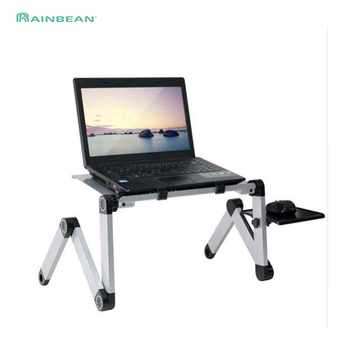 Portable Adjustable Aluminum Laptop Desk Stand Table Vented Ergonomic TV Bed Lap Stand Up Working Office PC Riser Bed Sofa Couch - DISCOUNT ITEM  0% OFF All Category