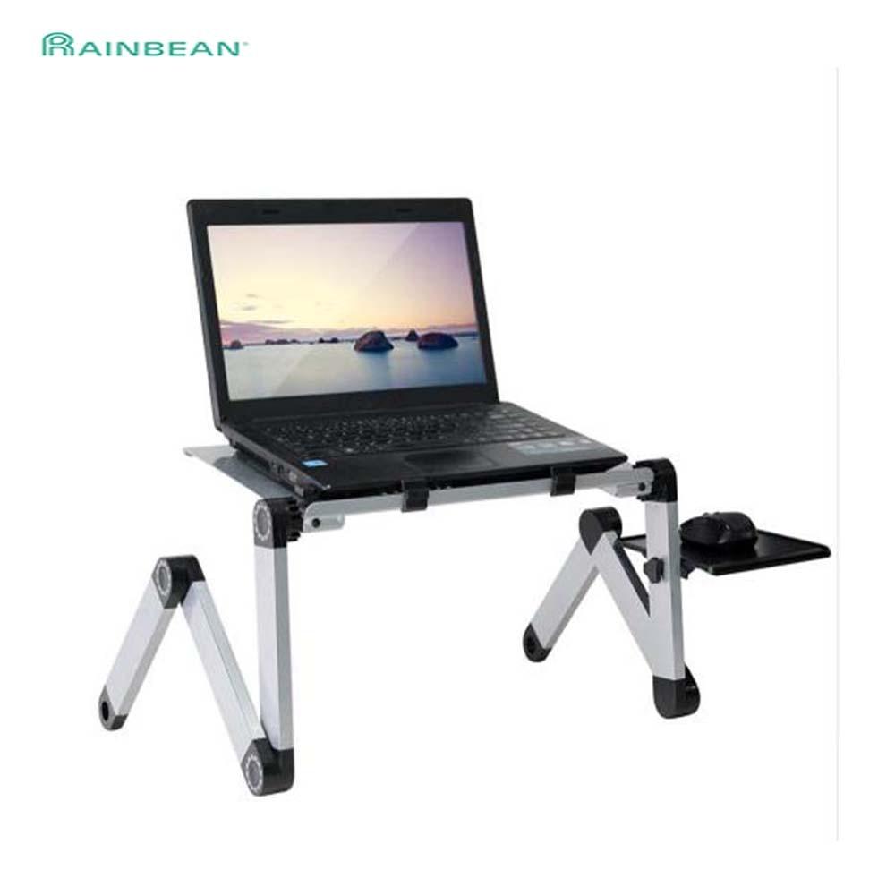 Przenośny regulowany aluminiowy biurko na laptopa podstawka na stół wentylowany ergonomiczny telewizor łóżko okrążenie Stand Up praca komputer biurowy Riser kanapa z funkcją spania kanapa