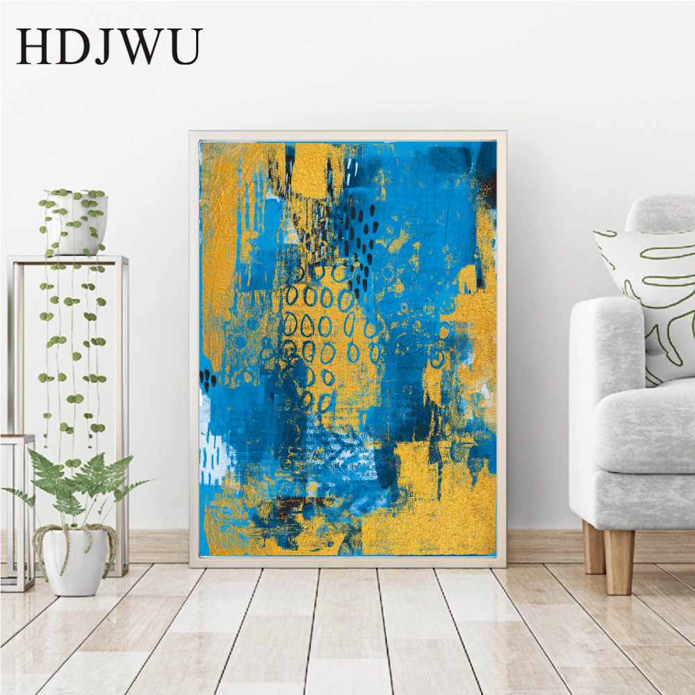 New Chinese Art Home Wall Decor Canvas Painting Wall Picture Abstract Printing Wall Poster for Living Room DJ483 in Painting Calligraphy from Home Garden