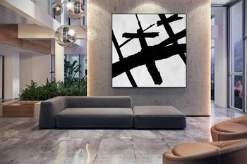 Large Canvas Wall Art Modern Painting Acrylic Painting Extra Large Artwork Oversize Painting Home Decor Square Painting
