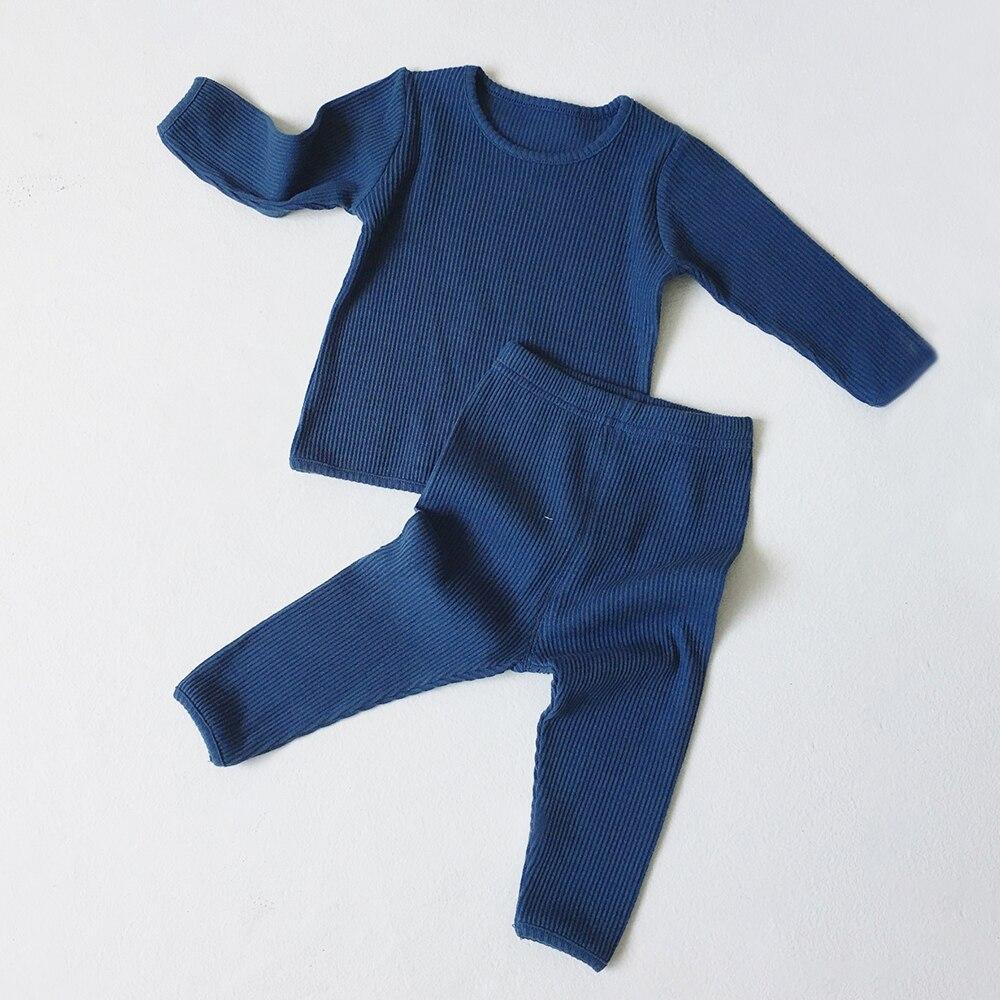 Kids Pajamas Sets For 1-8Y Children Lounge Wear For Boys Girls Full Sleeve Autumn Winter Baby Tops + Pants Girls Boys Sleepwear 6