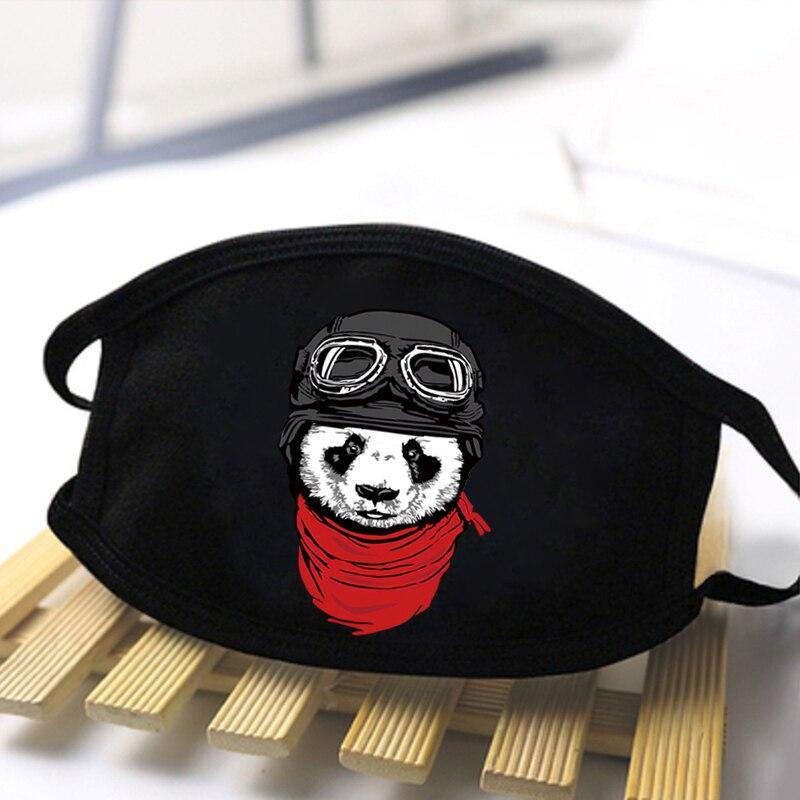 Cute Panda Printing Masks High Quality Cartoon Animal Washable Breathable Mouth Muffles Black Warm Winter Autumn Dustproof Masks