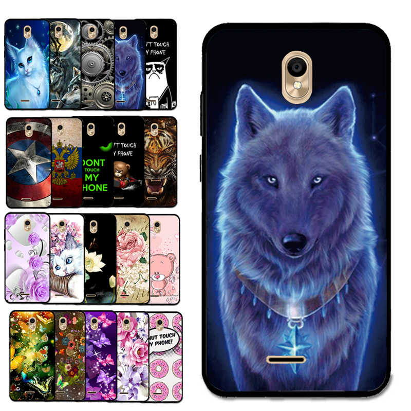 Voor Bq 5302G Nieuwe Shell Carton Wolf Koning Dier Verf Silicon Soft Case Voor BQ-5302G Fluwelen 2 Back Cover behuizing Tas