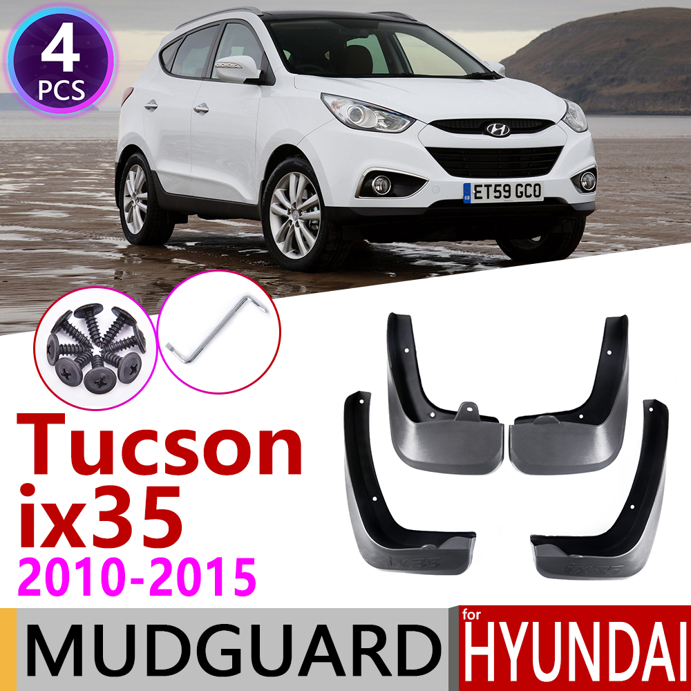 Car Mudflaps for <font><b>Hyundai</b></font> Tucson <font><b>ix35</b></font> LM 2010 2011 2012 2013 2014 2015 Fender Mud Guard Flap Splash Flaps Mudguards <font><b>Accessories</b></font> image