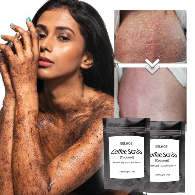 Coffee Scrub Coconut Scent Body Scrub Cream Facial Dead Sea Salt Cleansing For Exfoliating Whitening Moisturizing Anti Cellulite 2