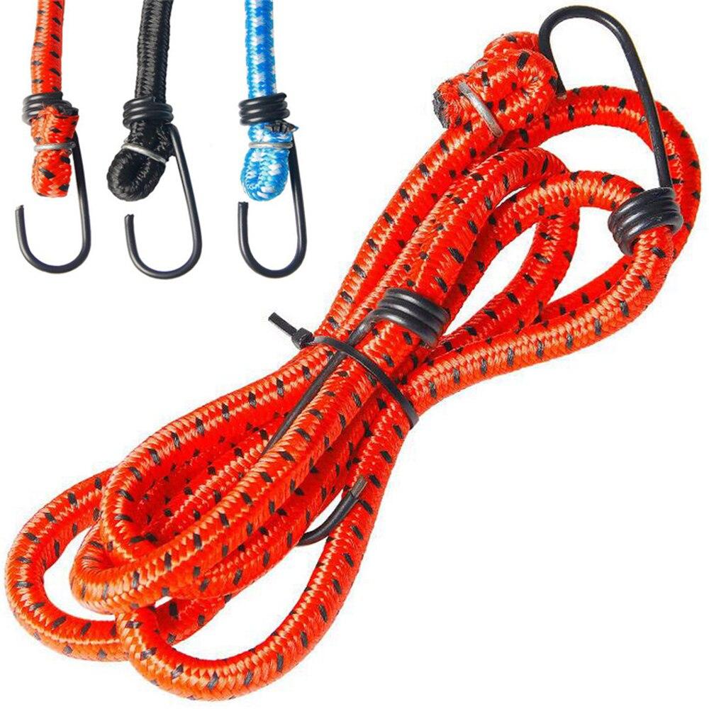 Nouveaux élastiques en caoutchouc bagages corde corde crochets vélos corde cravate vélo bagages porte-bagages sangle fixe bande crochet vélo accessoires