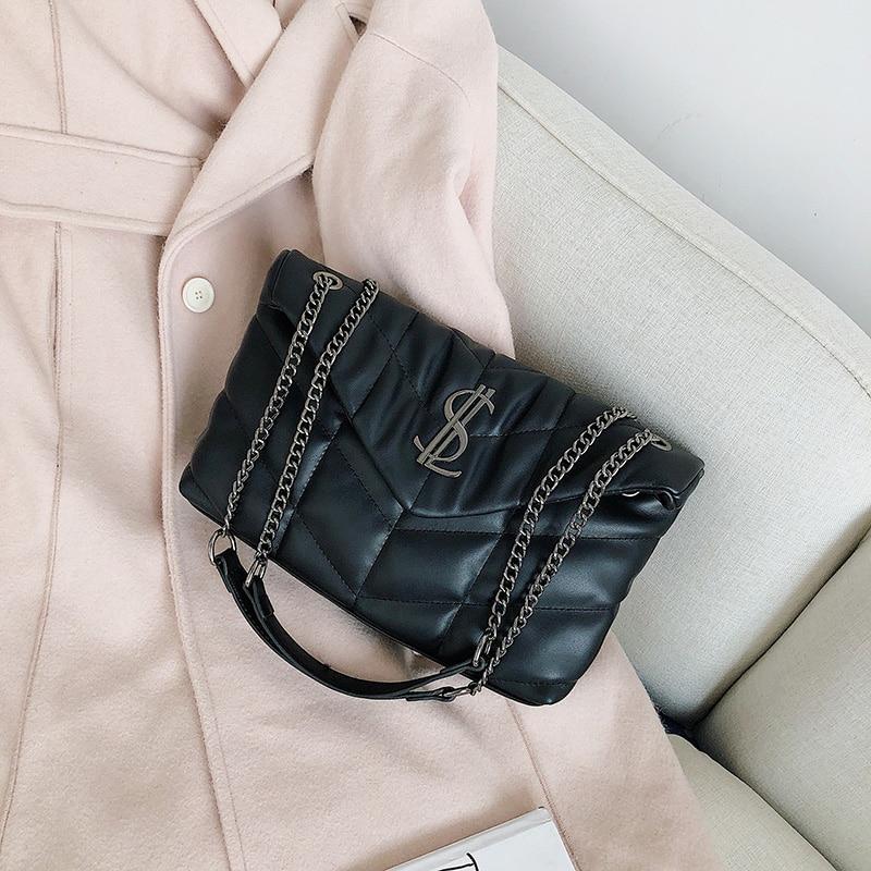 2020 New Designer Brand Soft Leather Embroidery Chain Women Bag Shoulder Messenger Bag Fashion Pruse Handbags Sac A Main