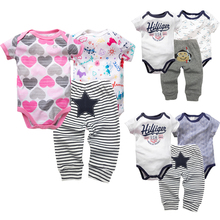 3PCS/LOT 0-12 Month Baby Twin Bodysuit Clothes Girl Clothing Set Boy Cotton Bodysuits+pant