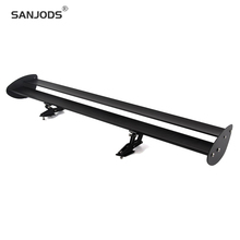 SANJODS Universal Rear Wing  Gt Wing Golf 4 Aluminum Lightweight Real Car Spoiler Drill Hole Type Trunk Spoiler For Hatchback carbon fiber rear trunk wings m4 spoiler for bmw 4 series f36 420i 428i 435i gran coupe 4 door 2013 gloss black spoiler wing