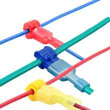 20 peças (10 pares) conectores de fio elétrico, conectores de fio elétrico de forma t rápida bloqueio de terminais de crimpagem para 0.5-4mm 22-18awg/12-10awg/18-14awg