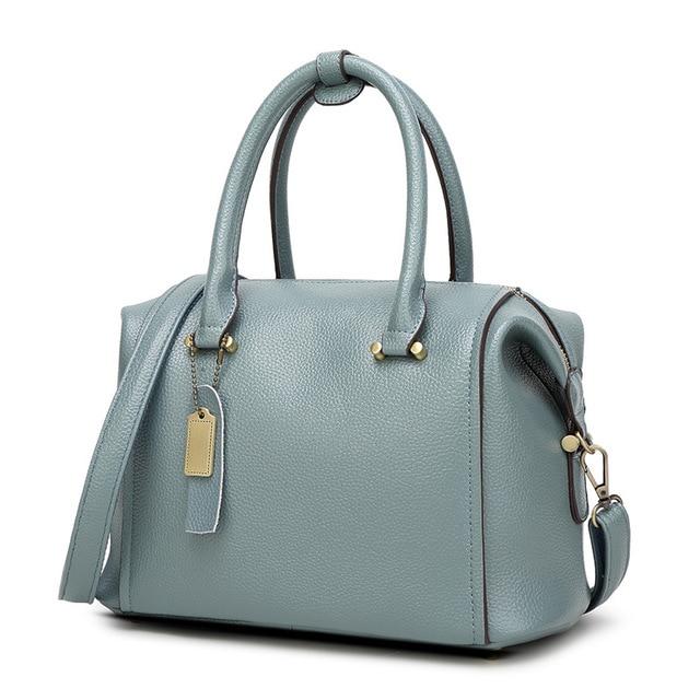 100% Genuine leather Women handbags Luxury Brand Handbags Women Bags  Designer Casual Genuine Leather Bags For Women Tassel 2