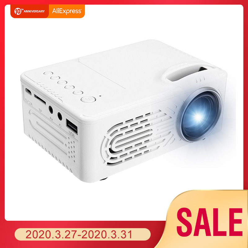 1080P HD Projector RD-814 Portable 220V EU Plug USB LED Projector Beamer Systems Media Player Cinema Theater HDMI VGA TV 3D