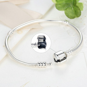 Image 4 - Authentic 100% 925 Sterling Silver Basic Snake Chain Bracelet & Bangles Fashion Jewelry WEUS902