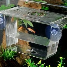 Fish-Breeding-Box Shrimp Isolation Aquarium-Tank Clownfish Hatchery Mini-House with Suction-Cups