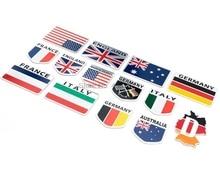 Door Dhl Of Fedex 1000 Stuks 3D Metalen Duitsland Duitse Nationale Vlag Badge Auto Voor Grill Grille Emblem Sticker Racing sport Decal