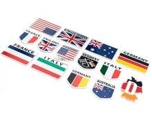 Door DHL of Fedex 200 stuks Metalen 3D Duitsland Duitse Vlag Badge Embleem Deutsch Auto Sticker Decal Grille Bumper Venster body Decoratie