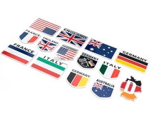 Door Dhl Of Fedex 500 Stuks Metalen 3D Duitsland Duitse Vlag Badge Embleem Deutsch Auto Sticker Bumper Venster Lichaamsversiering
