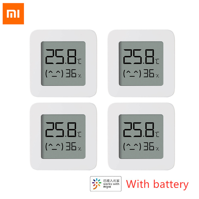 New XIAOMI Mijia Bluetooth Thermometer 2 Wireless Smart Electric Digital Hygrometer Work with Mi APP Humidity Sensor xiami xiomi 1