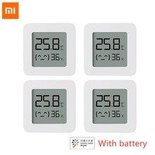 Novo xiaomi mijia bluetooth termômetro 2 sem fio inteligente elétrico digital higrômetro trabalho com mi app sensor de umidade xiami xiomi