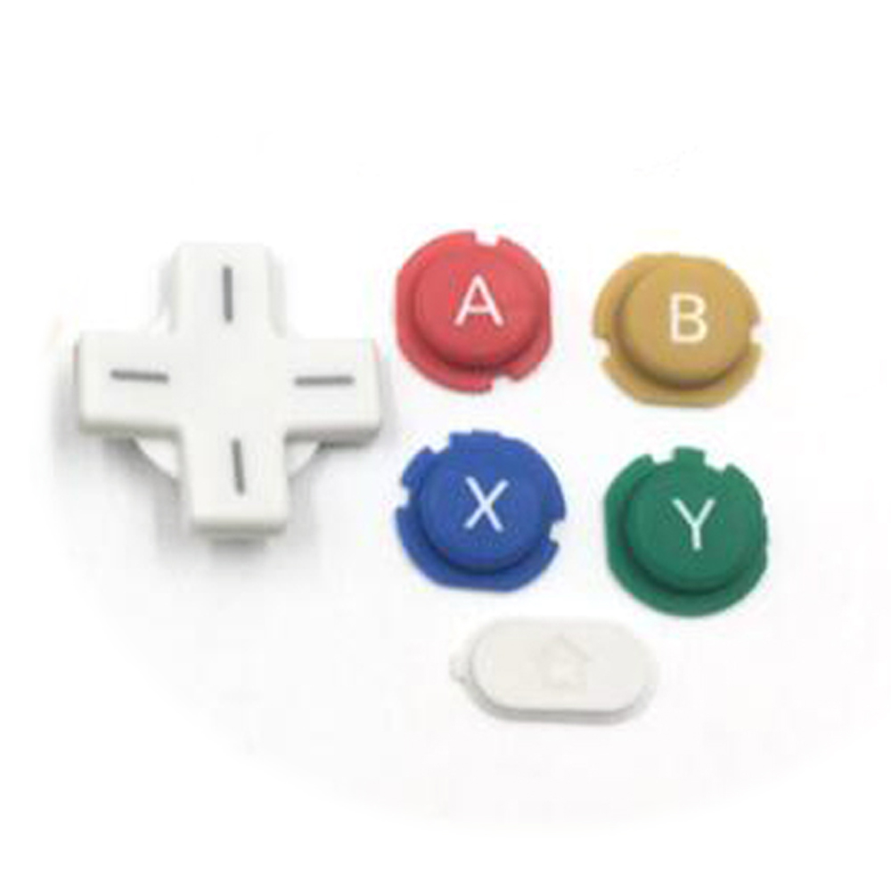 ABXY Cross Press Key Button Repair Part Replace For NEW 3DS Console