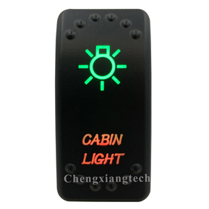 Image 1 - 12V 24V,ปิด,สีเขียว & ลงสีแดง Led Backlit  Cabin เลเซอร์ Rocker สำหรับรถเรือรถบรรทุก Push สวิทช์