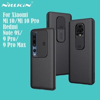 For Xiaomi Redmi Note 9S Note 9 Pro Max Case Mi 10 Pro Cover NILLKIN CamShield Case Slide Camera Back Cover For Redmi Note9S