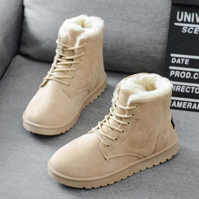 Vrouwen Laarzen Mode Sneeuw Boot Vrouwen Schoenen Bota Vrouwen Booties Vrouwelijke Winter Laarzen Warm Bont Enkellaars Voor Vrouwen Winter schoenen