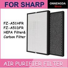 Замена Hepa фильтр FZ-A51HFR и Активизированный карбоновый фильтр FZ-A51DFR для очиститель воздуха Sharp KC-A50JW KC-A51R-B KC-A50EUW