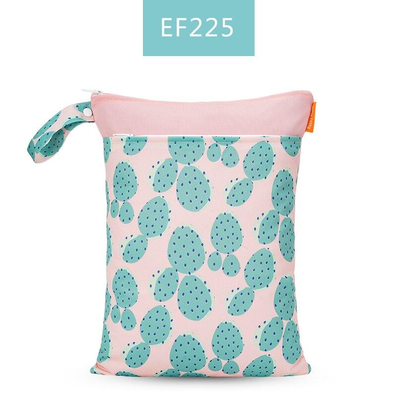 Happy Flute 1 шт. Многоразовые водонепроницаемые модные принты влажная сухая сумка для подгузников двойной карман тканевая Ручка сумки для мокрого плавания 30*40 см - Цвет: ES001EF225