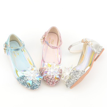 Girls Leather Shoes For Sparkle Rhinestone Sequins Wild Princess Summer  Girl Party Breathable Children Lithe