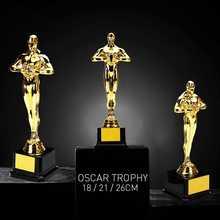 Oscar Trophy ödülleri 18cm/21cm/26cm altın kaplama-çoğaltma takımı spor yarışması zanaat hediyelik eşya plastik parti kutlamaları hediyeler