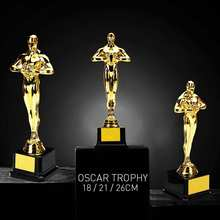 Oscar Trophy Awards 18cm/21cm/26cm Gold-Plated-Replica Team Sport Competition Craft Souvenirs Plastic Party Celebrations Gifts