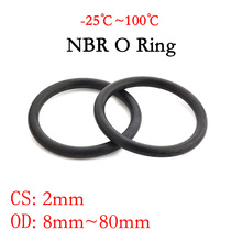 8--80mm Nitrile Rubber-Spacer O-Ring-Seal Gasket-Thickness Oil-Resistance Cs-2mm Washer