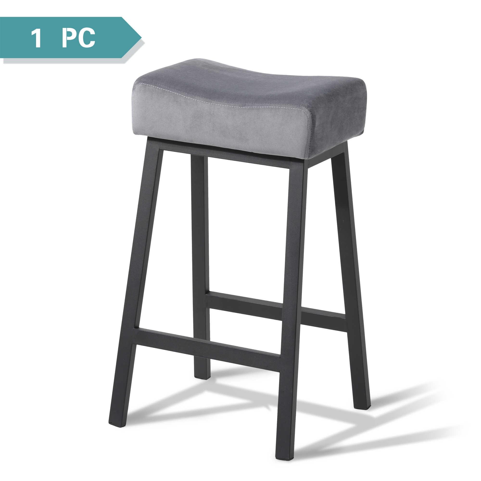 Grau Samt Barhocker Industriellen Stil Fur Fruhstuck Hoch Kuche Esszimmer Zahler Stuhl Mit Verstarkt Stahl Rahmen Bar Hocker Aliexpress